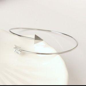 Arrow Bangle Bracelet Silver